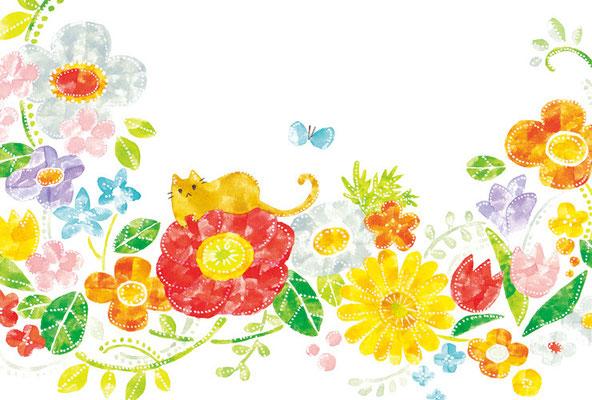 PY-03「花とネコ」