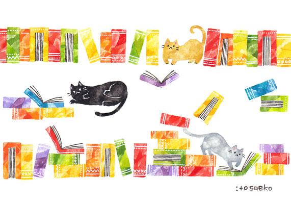 「それぞれさがす」A5/水彩絵具・ペン・色鉛筆