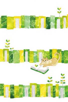 PT-02「緑の本とネコ」