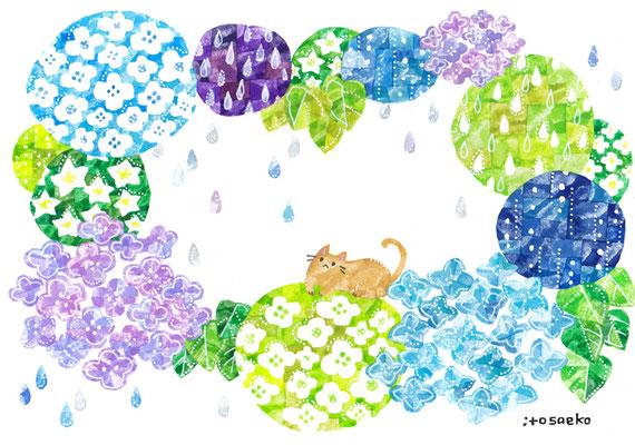 「あめいろのはな」B5/水彩絵具・ペン