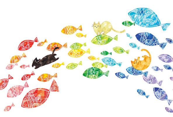 PY-13「魚の虹とネコ」