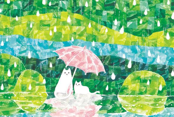 PY-04「雨の森とネコ」