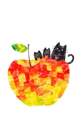 PT-09「林檎と黒ネコ」S