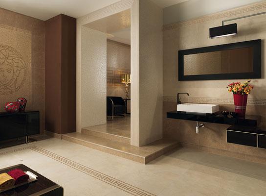 Versace serie vanitas casaeco pavimenti e rivestimenti in ceramica rubinetterie per bagno - Stock piastrelle versace ...