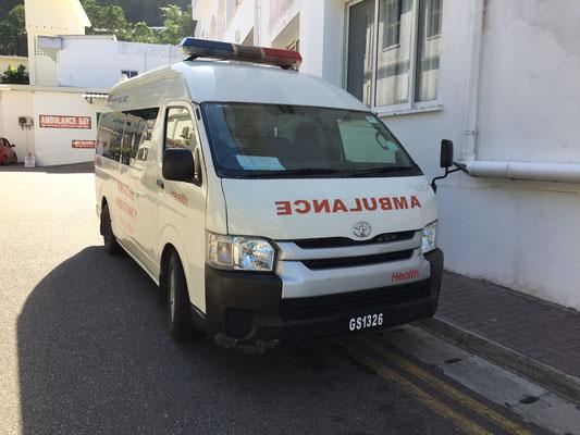 Lokales Ambulanzfahrzeug
