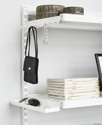 Elfa Regalsystem Metall Garderobe, Regalsystem Kleiderschrank, Regal für Garderobe
