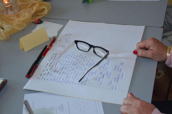 """Zitat von Teilnehmerin: """"aus dem Roman wird nichts, aber Gedicht und Kurzgeschichten..."""""""