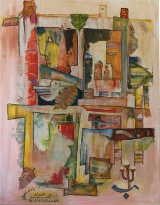 Kulturfenster, Acryl auf Leinwand, zu sehen auf der Aachener Kunstroute 2017 in der Galerie Frutti dell'Arte