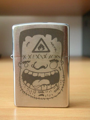 Zippo lighter; laser engraved