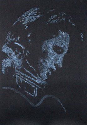 The King 2015 70x100 cm #stempelkunst#stempelbild#rubber stamp art#stamp art#stempelgrafik#stempelportrait#stempel
