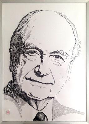 Walter Just 2016 100x140 cm #stempelkunst#stempelbild#rubber stamp art#stamp art#stempelgrafik#stempelportrait#stempel