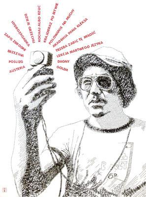 Zygmunt Samosiuk 2013 130x180 cm #stempelkunst#stempelbild#rubber stamp art#stamp art#stempelgrafik#stempelportrait#stempel