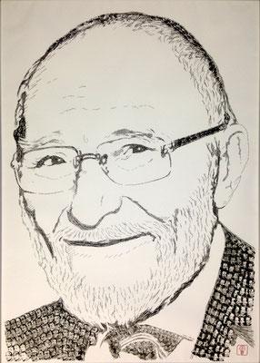 Wolf-Egon von Schilgen 2015 100x140 cm #stempelkunst#stempelbild#rubber stamp art#stamp art#stempelgrafik#stempelportrait#stempel