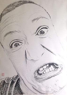 Why so serious? Pawel 100x140 cm #stempelkunst#stempelbild#rubber stamp art#stamp art#stempelgrafik#stempelportrait#stempel