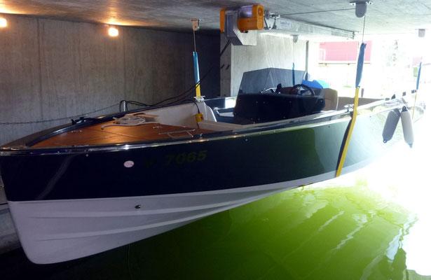 Ein wertvolles Boot sicher aufgehoben