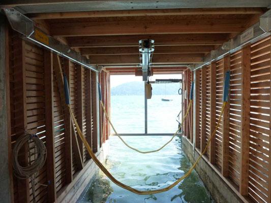 Bootshausperspektive am Attersee - es fehlt nur noch das Boot