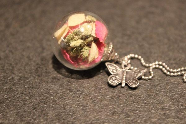 Brautstraußglaskugelkette