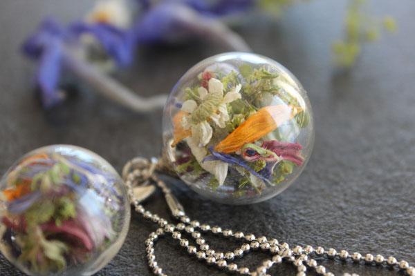 Brautstraußglaskugelketten