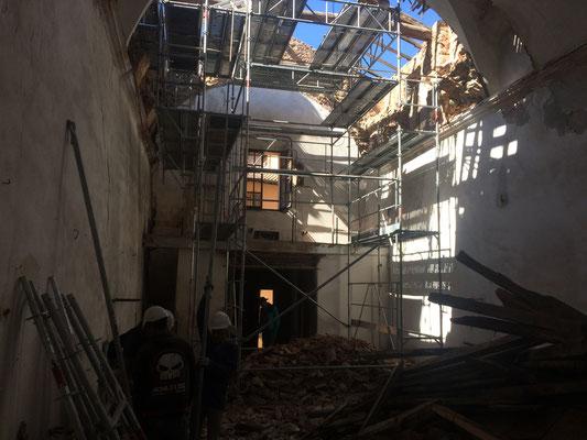 Carros Construction - démolition de la chapelle de Lantosque