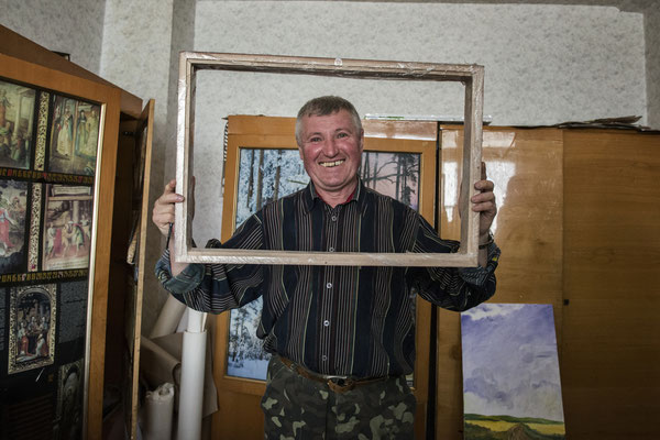 Leonid the painter of Chernobyl. Leonid has always lived in Chernobyl town before the accident. Soon after the evacuation he decided to go back to his home.