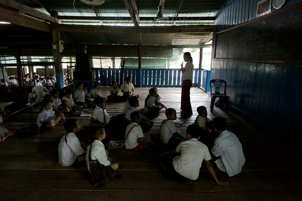 Lesson at school, Mae La refugee camp, Thailand