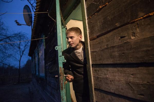 Viktor at his home in Radinka