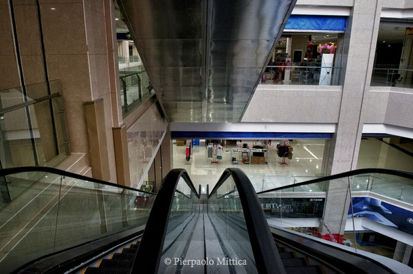 A deserted shopping centre