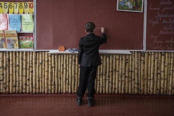 Igor during a lesson at Radinka's school