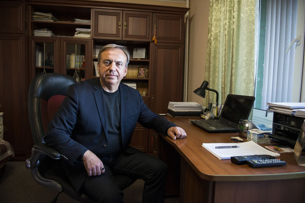 Professor Yuriy Bandazhevsky in his office at Ivankiv