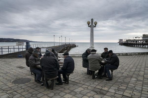 Along the sea shore in Sukhumi