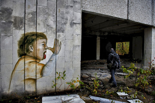 In the main square of Pripyat, exclusion zone