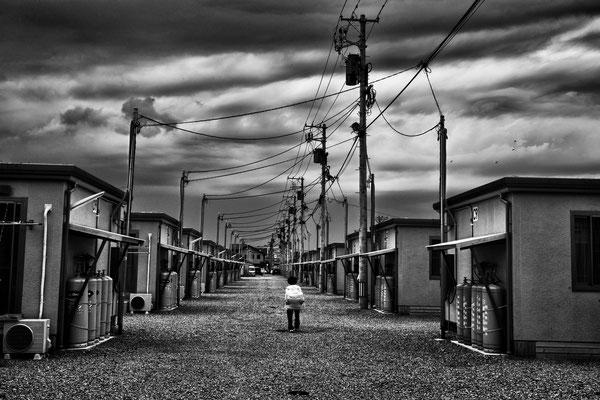 Shelters for evacuated people, Koriyama city.