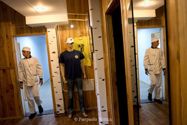 The chef of the hotel near the Chernobyl gadgets for tourists, Chernobyl city, the exclusion zone