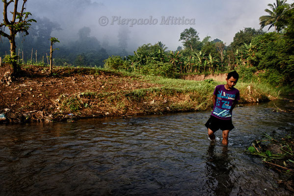 At the river, Mae La refugee camp, Thailand