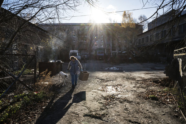 Daily life in Chernobyl town