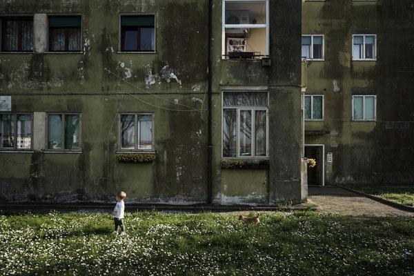 A child in Sacca Fisola Neighborhood, Giudecca