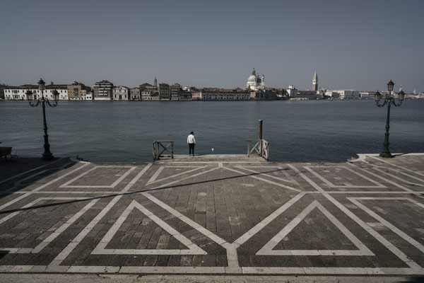 An empty Redentore Square, Giudecca