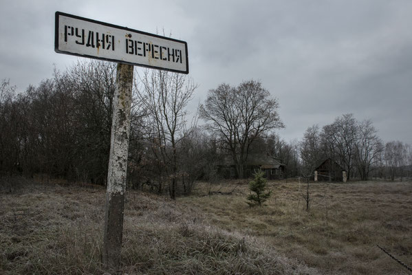 the abandoned village of Rudnya Veresnya, Chernobyl Exclusion Zone