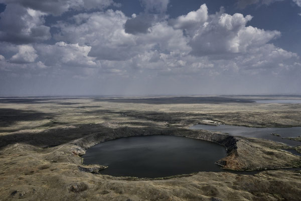 The atomic lake created by an underground explosion inside the Semipalatinsk shooting range. Lake Chagan or Lake Balapan, is a lake in Kazakhstan created by the Chagan nuclear test on January 15, 1965.