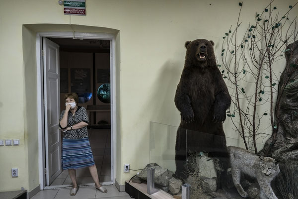 The guardian of the Regional Museum of Local History of the City of Semey.