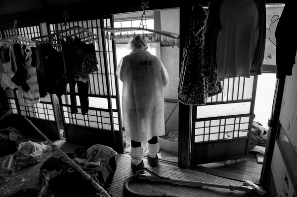 "Residents going back home to collect their belongings, Tomioka city, Fukushima ""No-Go Zone"", Japan."