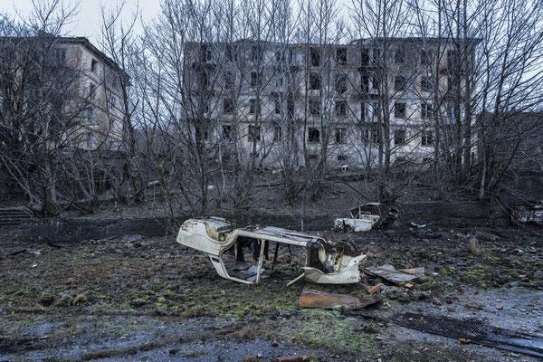 The semi abandoned village of Polyana