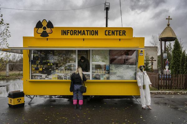Atomic souvenir shop at the check point of 30 km exclusion zone