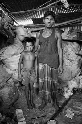 Jusuf with his boss, Tonghi, Dhaka