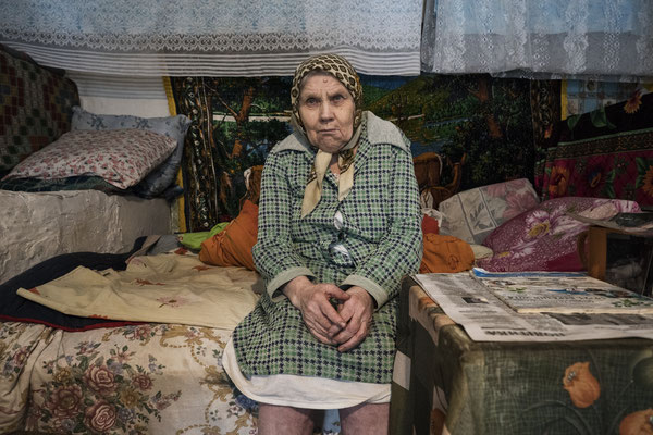 Sophia, 79, is Hanna's younger sister. she has mental and physical problems from birth and her sister Hanna has always taken care of her. Kupovate, Chernobyl Exclusion Zone