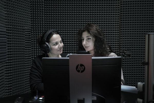 Asmat and Balla are presenters on Radio Sputnik in Sukhumi.