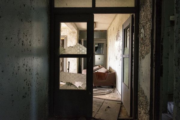 Abandoned apartments in the city of Pripyat.
