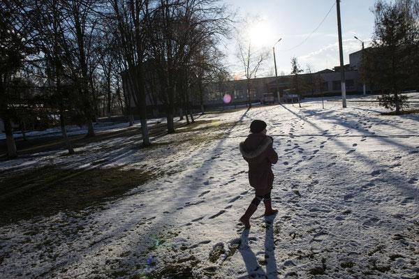 A little girl going to Radinka's school