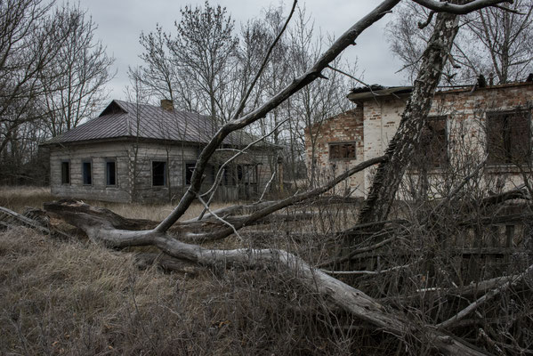 An abandoned village, Chernobyl Exclusion Zone