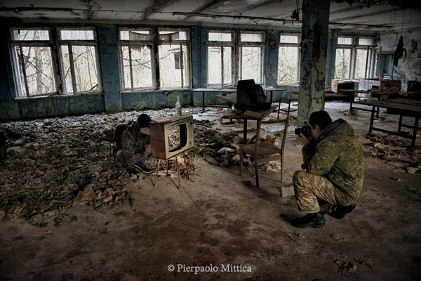 Inside the school number 1, Pripyat, exclusion zone